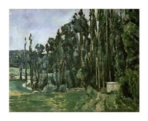 "Paul Cezanne Fine Art Open Edition Giclée:""The Poplar Trees"""