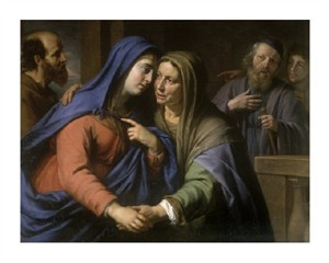 "Philippe De Champaigne Fine Art Open Edition Giclée:""The Visitation"""
