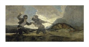 "Francisco De Goya Fine Art Open Edition Giclée:""Fight with Cudgels"""