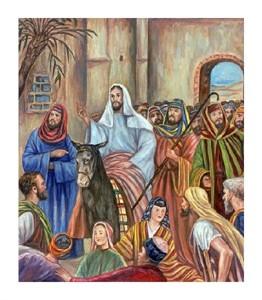 """Giovanni Guercino Fine Art Open Edition Giclée:""""Entry into Jerusalem"""""""