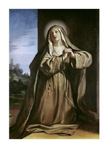 "Giovanni Guercino Fine Art Open Edition Giclée:""Saint Margarita da Cortona"""