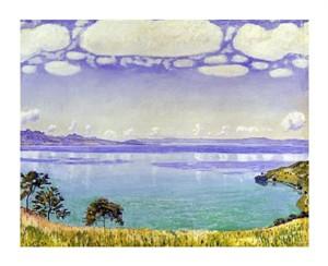 """Ferdinand Hodler Fine Art Open Edition Giclée:""""Leman Lake seen from Chexbre"""""""
