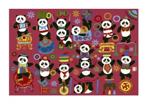 """Liu Rong Jiang Fine Art Open Edition Giclée:""""Panda Circus"""""""