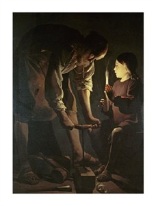 "Georges De La Tour Fine Art Open Edition Giclée:""St. Joseph the Carpenter"""