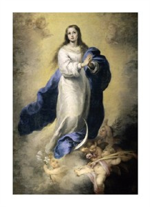 "Bartolome Esteban Murillo Fine Art Open Edition Giclée:""The Immaculate Conception"""