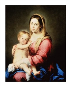 "Bartolome Esteban Murillo Fine Art Open Edition Giclée:""The Virgin and Child"""