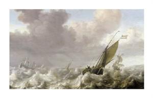 "Julius Porcellis Fine Art Open Edition Giclée:""Dutch Windships"""