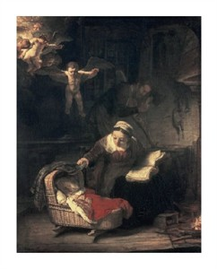 "Rembrandt Van Rijn Fine Art Open Edition Giclée:""The Holy Family"""