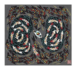 """Zhang Shu Rong Fine Art Open Edition Giclée:""""Harvesting Fish"""""""