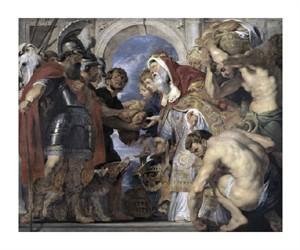 """Peter Paul Rubens Fine Art Open Edition Giclée:""""Abraham and Melchizedek"""""""