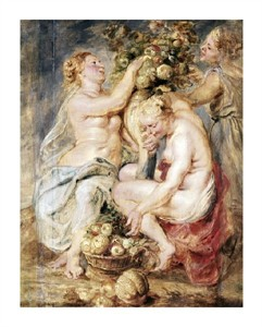 """Peter Paul Rubens Fine Art Open Edition Giclée:""""Ceres and Two Nymphs with a Cornucopia"""""""