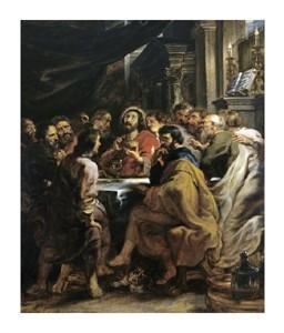 """Peter Paul Rubens Fine Art Open Edition Giclée:""""The Last Supper"""""""
