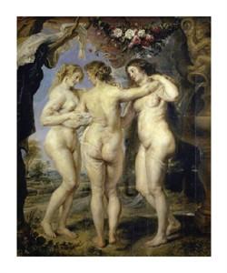 "Peter Paul Rubens Fine Art Open Edition Giclée:""The Three Graces"""