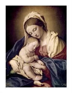 "Sassoferrato Fine Art Open Edition Giclée:""Madonna & Child (II)"""