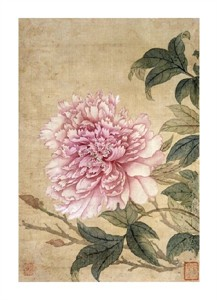 "Yun Shouping Fine Art Open Edition Giclée:""Peony from Album of Flower Paintings"""