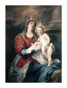 "Anthony Van Dyck Fine Art Open Edition Giclée:""Virgin & Child"""