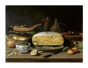 """Jan Van Kessel II Fine Art Open Edition Giclée:""""Still Life with Facon de Venise Wineglass"""""""