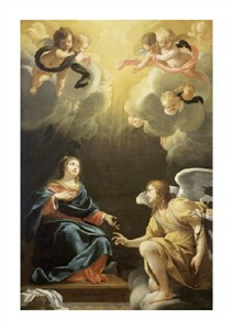 "Simon Vouet Fine Art Open Edition Giclée:""Annunciation"""