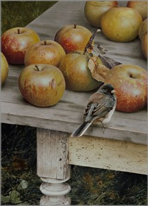 """Carl Brenders Artist Hand Signed Open Edition Canvas Giclee: """"Apple Harvest"""""""