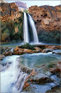 "Anthony Cook Hand Signed and Numbered Limited Edition Canvas Giclee: ""Havasu Falls"""