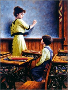 """Jim Daly Artist Personally Signed Canvas Giclee:""""After School Lessons (Large)"""""""