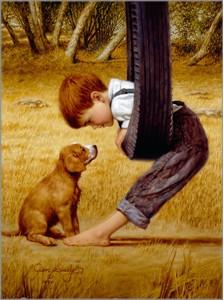 "Jim Daly Artist Hand Signed Fine Art Canvas Giclee: ""Eye to Eye"""