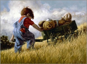 """Jim Daly Artist Hand Signed Fine Art Canvas Giclee: """"Long Haul"""""""