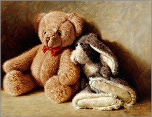"""Jim Daly Artist Hand Signed Fine Art Canvas Giclee: """"My Best Friends"""""""