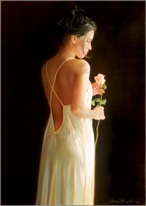"""Jean Monti Fine Art Canvas Giclee:""""Solitude"""""""