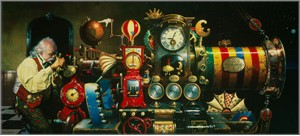 "Dean Morrissey Artist Hand Signed Open Edition Canvas Giclee: ""Telescope of Time, The"""