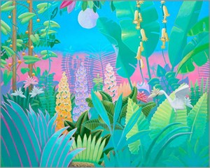 "David Utz Hand Signed and Numbered Limited Edition Canvas Giclee: ""Jungle Dream"""