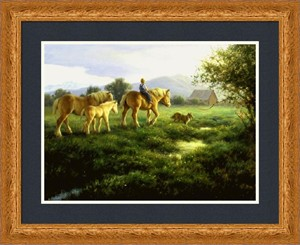 "Robert Duncan Framed Art: ""Almost Home"""