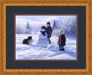 "Robert Duncan Framed Art: ""Winter Friends - Large"""