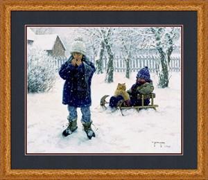 """Robert Duncan Framed Art: """"Winter Blanket"""""""