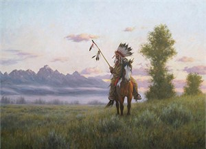 """Robert Duncan Hand Signed and Numbered Limited Edition Canvas Giclee:""""The New Day"""""""