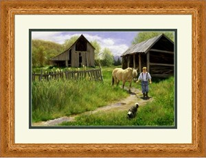 "Robert Duncan Framed Art: ""To Spring Pastures"""