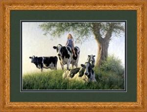 "Robert Duncan Framed Art: ""The Girls Club - Large"""