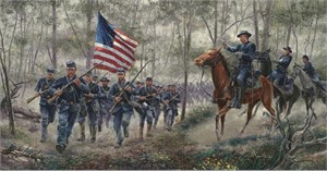 """Mort Künstler Handsigned and Numbered Limited Edition: """"Rush to the Summit """""""