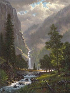 "Mark Keathley Hand Signed and Numbered Limited Edition Embellished Canvas Giclee:""Highland Song"""