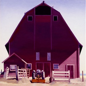 "Gary Ernest Smith Open Edition Gallery Wrap Canvas Giclee:""Purple Barn"""