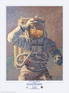"""Alan Bean Astronaut Signed Limited Edition Giclee Print:""""The American"""""""
