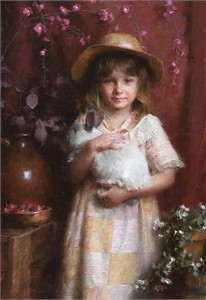 """Morgan Weistling Hand Signed and Numbered Limited Edition Gallery Wrap Canvas Giclee:""""Alice"""""""