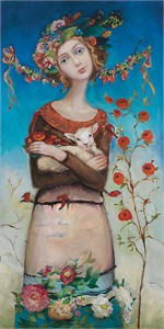 "Cassandra Barney Hand Signed and Numbered Limited Edition Gallery Wrap Canvas Giclee:""Comfort"""