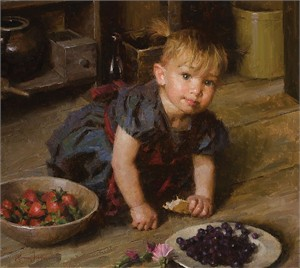 """Morgan Weistling Handsigned and Numbered Limited Edition Canvas Giclee: """"Savannah"""""""