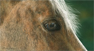 """Judy Larson Hand Signed and Numbered Limited Edition Canvas Giclee:""""Golden"""""""
