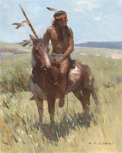 "Z.S. Liang Hand Signed and Numbered Limited Edition Gallery Wrap canvas Giclee:""Young Scout """