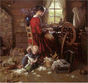"Morgan Weistling Handsigned and Numbered Limited Edition Canvas Giclee:""A Helping Hand"""