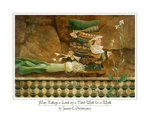 "James Christensen Handsigned and Numbered Fine Art Anniversary Giclée Canvas:""Parables"""