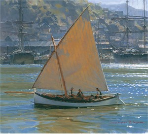 "Christopher Blossom Handsigned and Numbered Limited Edition Canvas Giclee:""Below Telegraph Hill """
