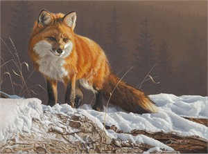 """Daniel Smith Hand Signed and Numbered Limited Edition Gallery Wrap Canvas Giclee:""""Radiant Red"""""""